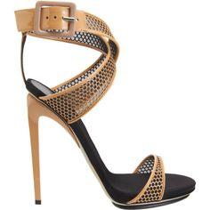 Giuseppe Zanotti Criss-Cross Lasercut Sandal
