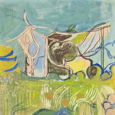 thunderstruck9:  Graham Sutherland (British, 1903-1980), Study of Vine Pergola, 1947. Pencil, pastel and gouache, 14 x 14 in.