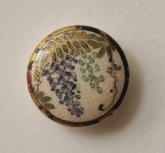 Antique Satsuma Wisteria Button Japanese   eBay