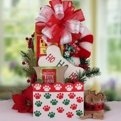 Happy tails: pet dog gift basket | Products