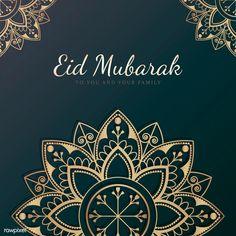 Eid mubarak card with mandala pattern background Vector Carte Eid Mubarak, Eid Mubarak Card, Eid Mubarak Greetings, Triangle Pattern, Mandala Pattern, Pattern Flower, Paisley Pattern, Swear Word Coloring Book, Coloring Books