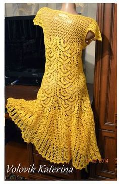 crochelinhasagulhas: Vestido em crochê by Katerina Volovik