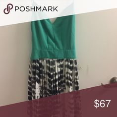 Adorable backless maxi dress Teal and tie dye black and white maxi dress. Backless with a flowing high low skirt. SO cute on, worn once and I no longer have an occasion for it. Purchased in a boutique downtown San Luis Obispo Dresses High Low