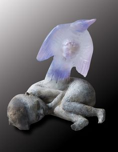 """Christina Bothwell, """"Dreaming in color"""", Cast glass, ceramic, oil paint, 2012"""