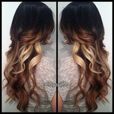 Ombré hair color with bright peek a boos Ombré Hair, Hair Day, New Hair, Love Hair, Great Hair, Gorgeous Hair, Pelo Natural, Hair Color And Cut, Up Girl