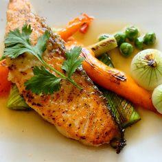 Saumon, légumes gril
