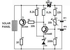 ‪#‎Solar‬ Charger Circuit Diagram
