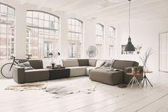 Woonwarenhuis Leen Bakker heeft samen met een jong team ontwerpers een nieuwe collectie meubels ontworpen onder de naam UMIX, zoals deze grote hoekbank. Meer wooninspiratie voor het inrichten van je huis op http://www.interieurinspiratie.nl/