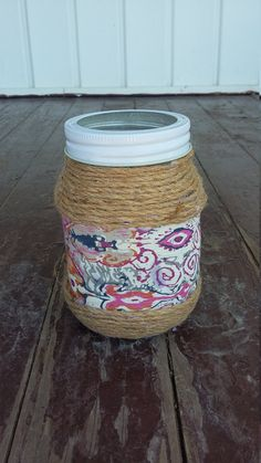 Twine Wrapped Canning Jar by ArtOfAlice on Etsy