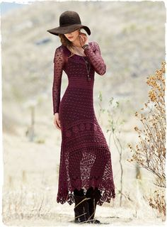 Drawing inspiration from a Victorian heirloom, our free-spirited pima #dress is superbly #handcrocheted by #Peruvian artisans in a medley of complex stitches. The long, flattering silhouette is styled with slim sleeves, scoop neck, eyelet-banded waist and curving hem the dips longer in back.