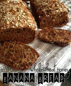 Whole Wheat Honey Banana Bread | Pinaholic Myrie