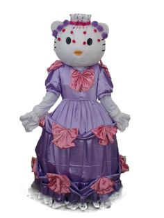 Hello Kitty with Crown in Purple Dress Mascot Adult Costume
