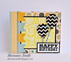 April 2013 Happy Birthday by scrappinshemaine - Cards and Paper Crafts at Splitcoaststampers