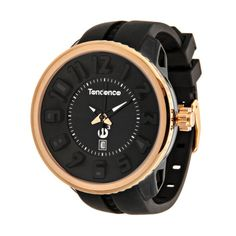 Tendence  Unisex Mystery Gulliver Watch In Black & Rose Gold Tone  $88