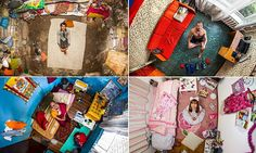Remarkable images show people across the world in their bedrooms