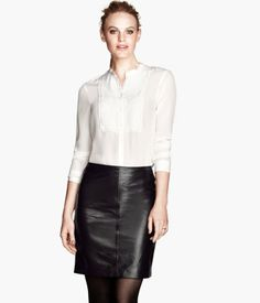 H&M leather skirt, size 4 (can order online) ($99)