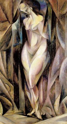 "Zbigniew Pronaszko  ""Formist Nude"", 1917, oil on canvas, 113 x 65 cm, National Museum, Cracow"