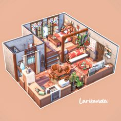 Sims 4 House Plans, Sims 4 House Building, Sims 4 House Design, Tiny House Design, Sims 4 Loft, Sims 4 Houses Layout, Sims 4 Challenges, Sims 4 Collections, Casas The Sims 4