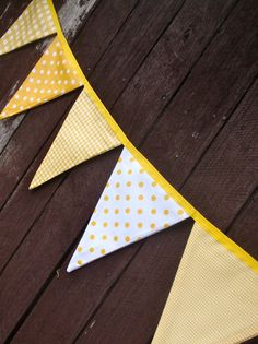 Bunting / flags / pennant strings  Sunshine by giggleberry on Etsy, $36.00
