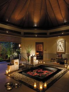Relaxing hot tub