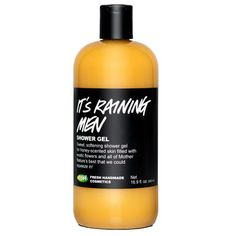 IT'S RAINING MEN Shower Gel by Lush Cosmetics: w/ honey, lotus flowers & sweet orange, toffee-fudge scented
