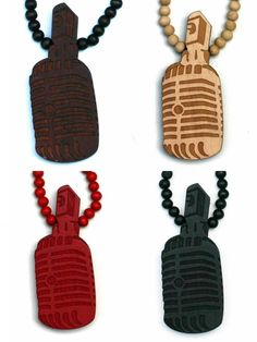 Wood Junkie Necklace Microphone I - Urban Classics-Shop.nl