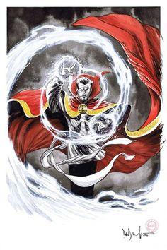 Doctor Strange by Dave Wachter Marvel Comics Art, Marvel Fan, Marvel Heroes, Marvel Avengers, Thor, Deadpool, Marvel Universe, Hulk, Benedict Cumberbatch