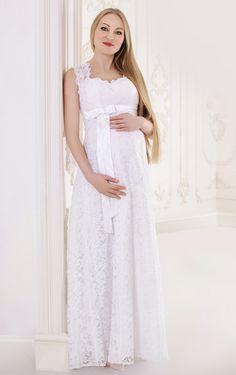 Discount 2015 Chiffon Maternity Wedding Dresses Open Back A Line ...