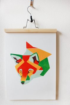 #geometric #fox #colours