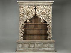 Антикварный книжный шкаф или шкаф из рококо