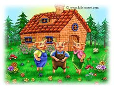 During a theme on Fairy Tales or real vs. make-believe, a great outdoor activity for early childhood students is to build the houses of the three little pigs. Early childhood students love to walk around their school grounds . Kids Story Books, Stories For Kids, Three Little Pigs Story, Piggly Wiggly, Writing Pictures, Kids Pages, Digital Storytelling, Mother Goose, Cute Little Things