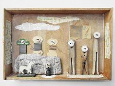 mano kellner, project 2013, kunstkiste nr 32, familienaufstellung  - sold -