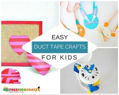 Wondering what to make with duct tape? We gathered our favorite 90 Easy Duct Tape Crafts for Kids in this collection! Recycled Crafts Kids, Easy Crafts For Kids, Fun Crafts, Children Crafts, Duct Tape Projects, Duck Tape Crafts, Kid Projects, Project Ideas, Craft Ideas