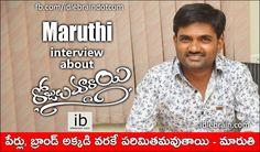 Maruthi interview about Rojulu Marayi http://www.idlebrain.com/news/today/interview-maruthi-rojulumarayi.html