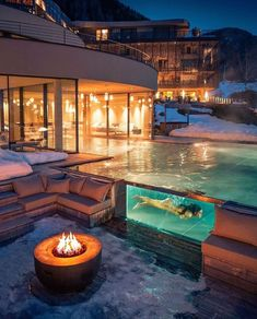 Valles, Trentino-Alto Adige, Italy This pool is so cool! Design Hotel, Luxury Homes Dream Houses, Resort Villa, Destination Voyage, Cool Pools, Luxury Apartments, Dream Vacations, Vacation Places, Honeymoon Destinations