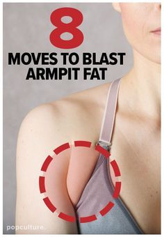 If that little extra fold of skin between your arm and chest bugs the daylights out of you, don't freak — we've got an at-home workout targeted to blast armpit fat! Popculture.com #armpitfat #brabulge #backfat #womenshealth #athomeworkout #healthyliving #workout #womensworkout #fitness