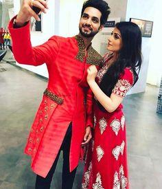 Cute Love Couple, Sweet Couple, Bollywood Stars, Bollywood Fashion, Shakti Arora, Surya Actor, Radhika Madan, Boy Costumes, Girl Poses