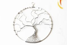Wire Tree, Silver Wire, Wire Art, Metal Art, Metal Wall Art, Metal Wall Decor, Christmas Gift, Wire ornaments, Wire Decor, READY TO SHIP by RoseValleyVilaga on Etsy