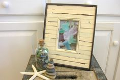 Cottage Beach Photo Picture Frame Shabby Distressed by thedeepblue, $29.95