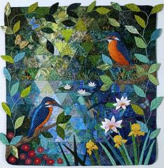 Kingfishers Catch Fire, Dragonflies Draw Flame.... by Rowena Reamonn (1998).  Inspired by Claude Monet's paintings of the garden at Giverny.