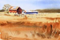 Barnyard | Larry Fentz Studio – Orginal Watercolors
