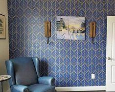Adhesive wallpaper | Etsy Navy Wallpaper, Standard Wallpaper, Nursery Wallpaper, Wallpaper Panels, Blue Wallpapers, Self Adhesive Wallpaper, Fabric Wallpaper, Peel And Stick Wallpaper, Pattern Wallpaper