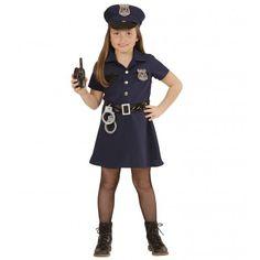 Disfraz de Policia para niña #Disfraces #Infantiles #Policía