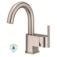 Danze Como Single Hole 1-Handle High-Arc Bathroom Faucet with Side Handle in Brushed Nickel-D221542BN - The Home Depot