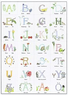 majas alfabet plansch - Google Search Abc Poster, Baby Sign Language, Make Your Own Poster, Early Childhood Education, Graphic Design Posters, Childrens Books, Illustrators, Kindergarten, Panda