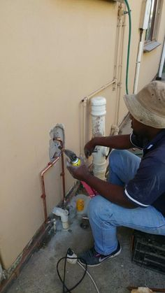 laying_water_lines Plumbing, Home Appliances, Hands, Water, House Appliances, Gripe Water, Appliances