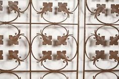 Pair of Forged Iron Decorative Panels, Brussels, late 1930's | From a unique collection of antique and modern architectural elements at http://www.1stdibs.com/furniture/building-garden/architectural-elements/