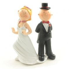 Stepping Out Comical Cake Topper This comical fun cake topper has the groom stepping on the brides wedding dress Approx size - height width depth Material - resin Wedding Cake Toppers, Wedding Cakes, Wedding Reception Table Decorations, Amazing Cakes, Decorative Bells, Bride Groom, Brides, Place Cards, Resin