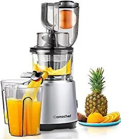 online shopping for AMZCHEF Slow Juicer Slow Masticating Juicer Cold Press Juicer Vegetable&Fruit Extractor Juicer Machine Vertical Reverse Function Quiet Motor Big Feed Chute Sandwich Toaster, Bosch Mum, Popcorn Company, Cold Press Juicer, Juicer Machine, Fruit Juicer, Kitchenaid Stand Mixer, Juice Extractor, Cleaning