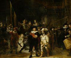 Schutters van wijk II onder leiding van kapitein Frans Banninck Cocq, bekend als de 'Nachtwacht', Rembrandt van Rijn, 1642